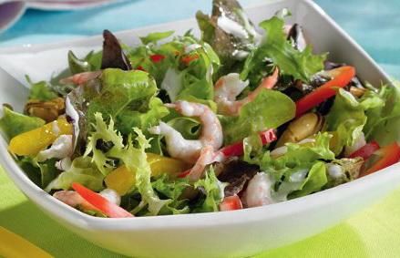 Салаты с морепродуктами рецепты слоеный