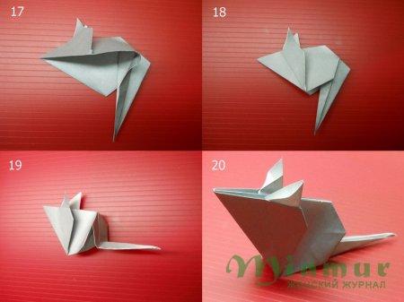 Мышка из бумаги своими руками
