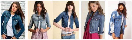 Модные женские джинсовые куртки