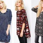 Модные женские трикотажные туники