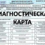 Диагностические карты онлайн в Москве